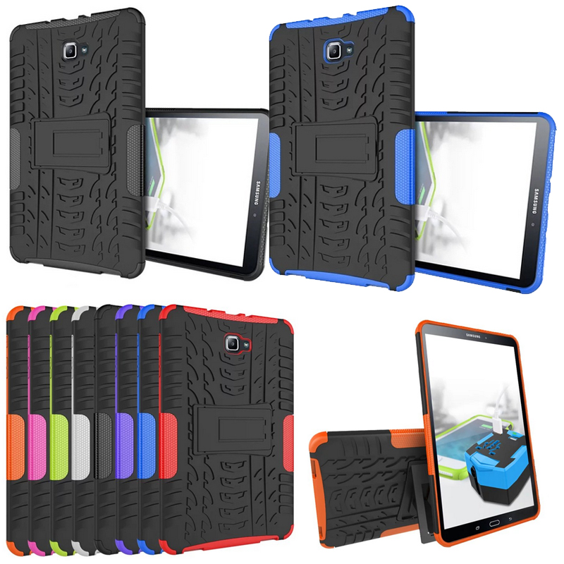 Heavy Duty For for Samsung Galaxy Tab A6 10.1 2016 T585 T580 Cover Armor Silicone Stand Funda Case for Samsung A6 10.1 T580 Case