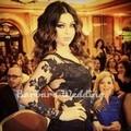 2015 Arabic Myriam Fares Celebrity Dresses Mermaid Long Sleeves Black Lace Long Elegant Evening Dresses Red Carpet Dresses