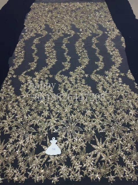 Oro estampado pegado a mano del brillo de la chispa de encaje patrón ...
