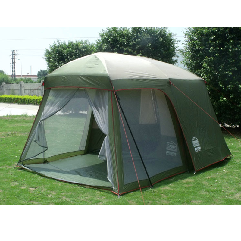 Double layer garden tent for family party 3 4 person c&ing tourism tent family big outdoor 4 season hunting waterproof tents-in Tents from Sports ...  sc 1 st  AliExpress.com & Double layer garden tent for family party 3 4 person camping ...