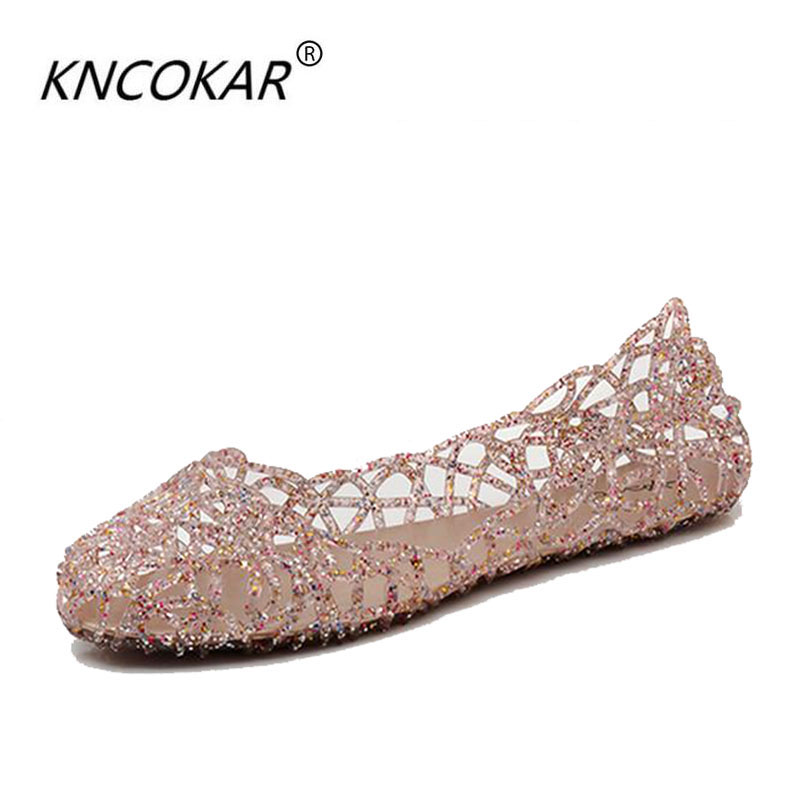 53187a12c6ad47 2017 women s shoes beach flat bird nest hole shoes plastic crystal jelly  shoes cutout flower mesh sandals-in Women s Sandals from Shoes on  Aliexpress.com ...