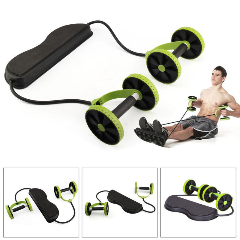 Fitness Equipments Multifunction Abdominal Trainer Wheel Arm Waist Leg Exercise Fitness Sport Pull Rope Health Muscle Home Training Equipment