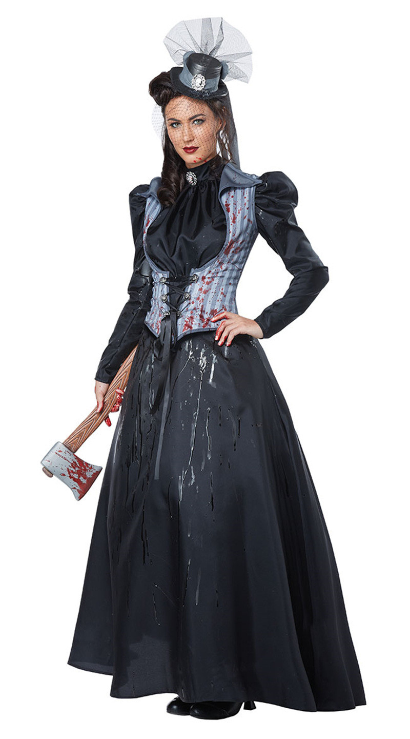 Halloween Cosplay Costumes Masquerade Party Performance Clothes Stage Show Clothes Halloween Dress Female Killer Role-play Dress