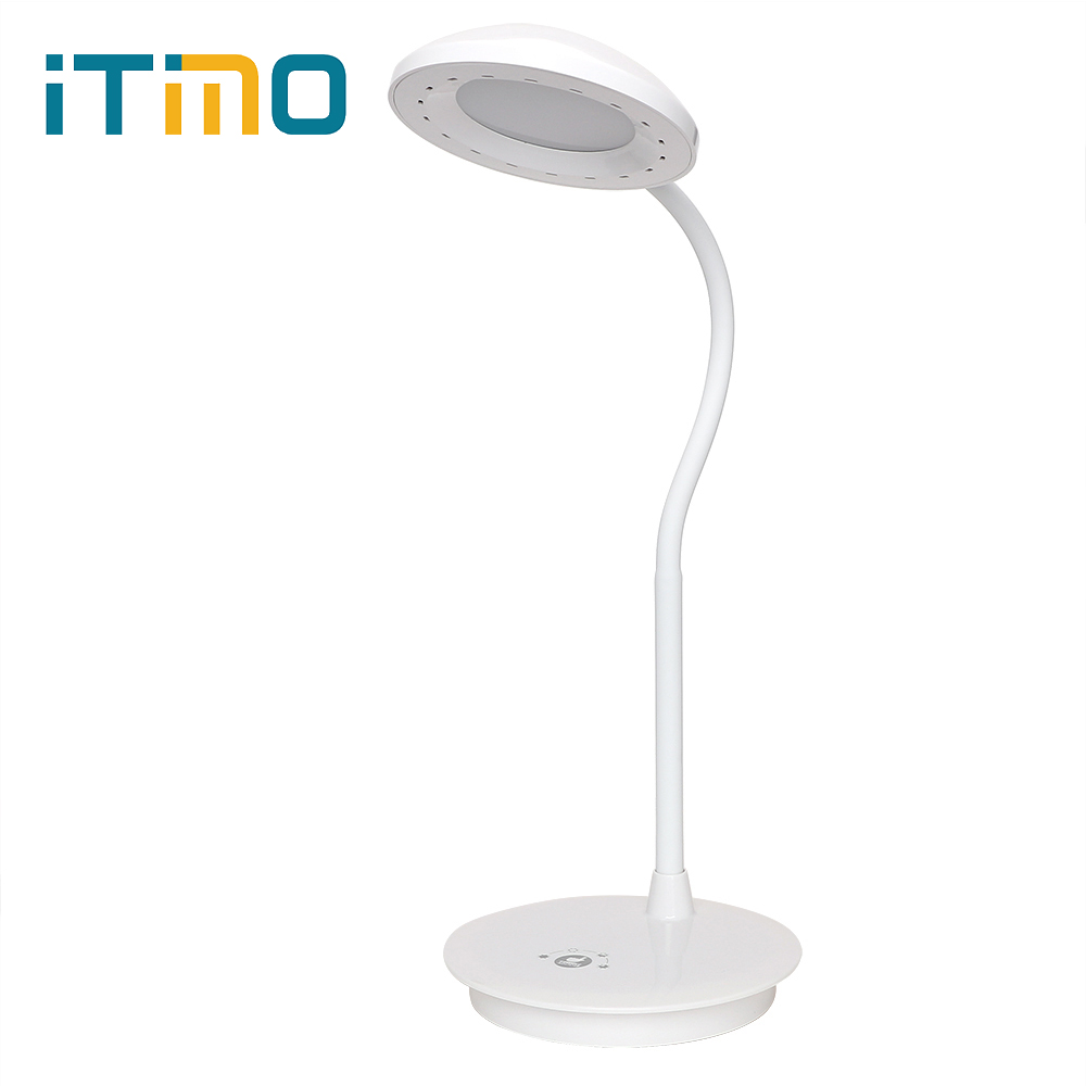LED Desk Lamp Touch Light Dimmable Flexible White Adjustable Book Reading Light Table Lamp 3 Mode USB Power 2015new 3 mode touch dimmable warm white 8 led desk lamp charging atmosphere night light for bar coffee house bronze coloured