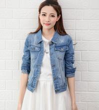 Базовая джинсовая куртка для женщин Повседневная Casaco Feminino Женская куртка джинсовая Винтаж джинсовки пальто куртки Harakuju женский черный