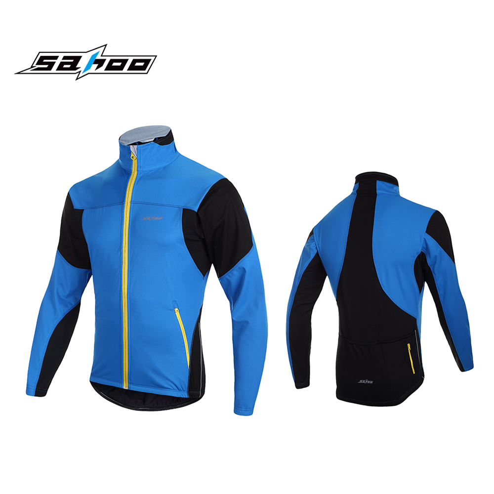 SAHOO Manches Longues Barrière Thermique Cyclisme Maillot Vélo Shirt Coupe Vent Veste D'hiver Sports de Plein Air Vêtements pour Hommes Femmes dans Maillots de cyclisme de Sports et loisirs