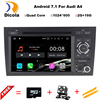 Free Camera 1024 600 Quad Core Android 7 1 1 Car DVD Player For Audi A4