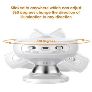 Image 4 - Star Rain Motion Sensor light 360 Degree Rotating Rechargeable Magnetic LED Night Light Wall lamp for Stair Kitchen toilet light