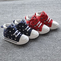 2017 New Baby Shoes Breathable Canvas Shoes 1-4Years Old Boys Shoes red blueComfortable Girls Baby Sneakers Kids Toddler Shoes