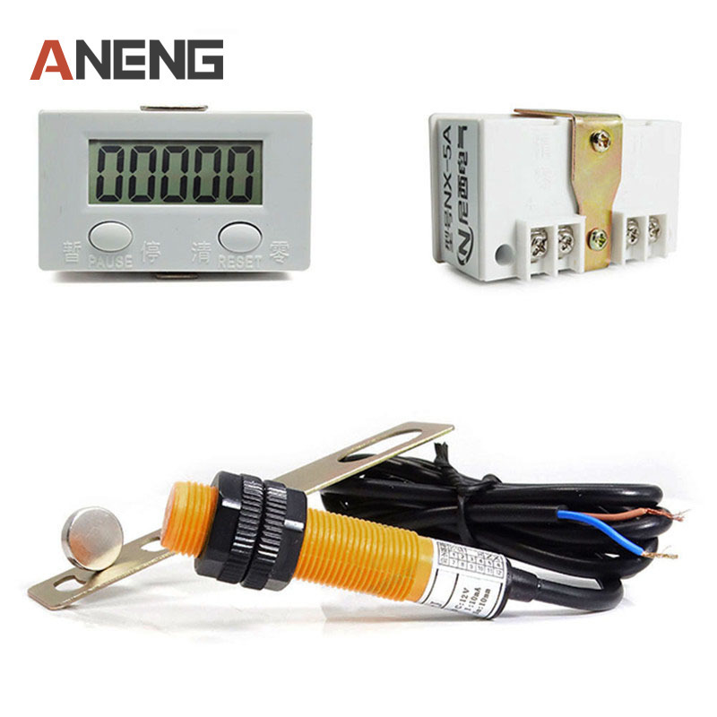 Punch Counter Digital Electronic Counters Strong Magnet Sensor Switch Industrial Counter