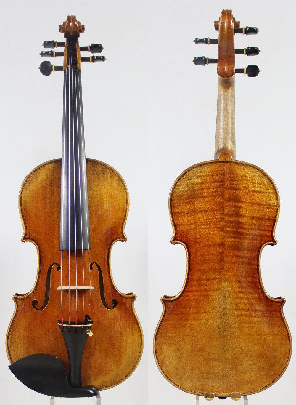 5 Strings Violin violino!Copy Stradivari 1715 Model! Antiqued oil vamish.Master Tone!Case Bow Rosin!Free Shipping!Aubert Bridge! antique violin model stradivarius 1715 model 100