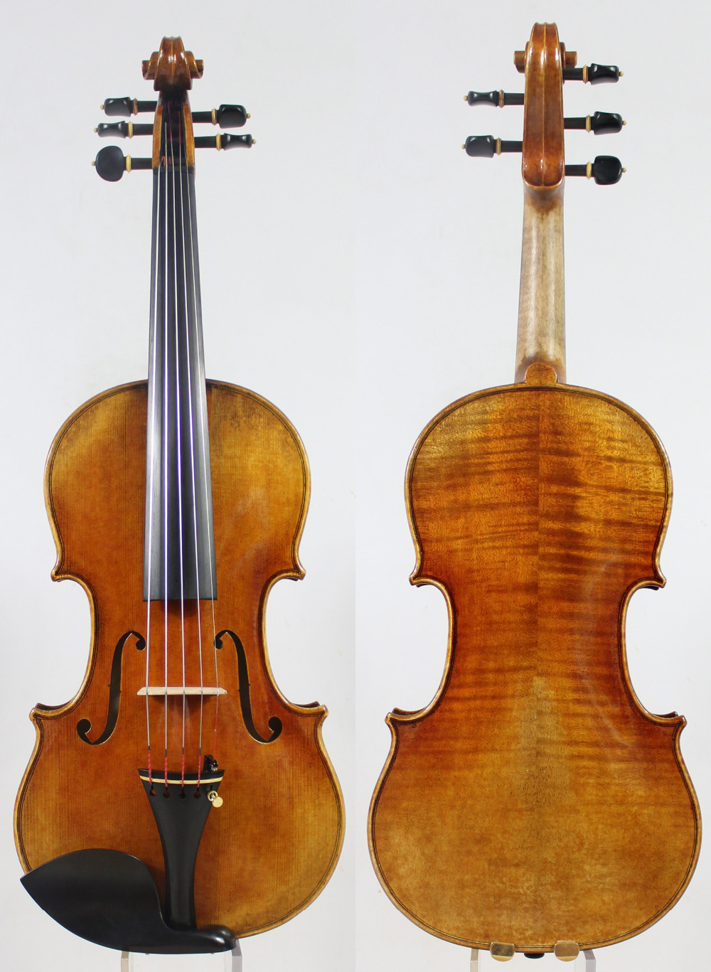 5 cordes Violon violino! Copie Stradivari 1715 Modèle! Antique huile vamish. Maître Ton! Cas Arc Colophane! Livraison Gratuite! Aubert Pont!