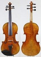 Maestro Stradi 4 4 Violin Violino Powerful Tone Antique Varnish Old Spruce One Pc Back