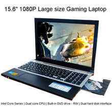 Laptop 15.6 Inci 1920*1080 Dual Core 8 GB RAM DDR3L120GB SSD ROM Windows10 Notebook 3 Rdth I7 Komputer keyboard Built-In DVD(China)