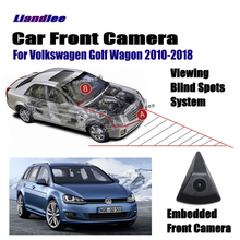 Liandlee Front View Camera Car Screen Monitor 4.3 Logo Embedded Cigarette Lighter For Volkswagen VW Golf Wagon 2010-2018 15 16