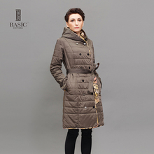 BASIC EDITIONS Long Winter Brand Fashion Clothing Long Sleeve Hooded Cotton Padded Double Sided Jacket Cotton