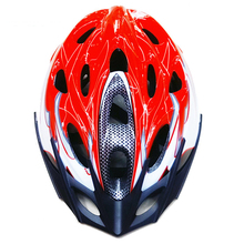 Catazer Outdoor Sports MTB Men's Cycling Safety Helmets 18 Holes Cycle Bicycle Adult Bike Helmet with Visor LED