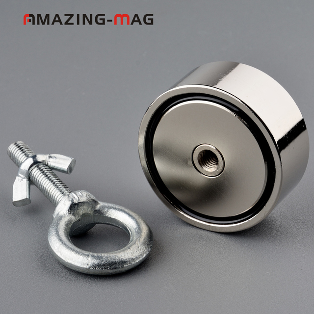 Double Side 300KG Big Strong Magnet Fishing Salvage Neodymium Magnet with Rope Option