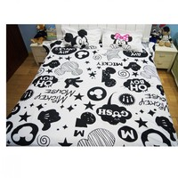 Mickey Minnie Mouse 3D Printed Bedding Sets Adult Twin Full Queen King Size Bedroom Decoration Duvet Cover Set no Comforter