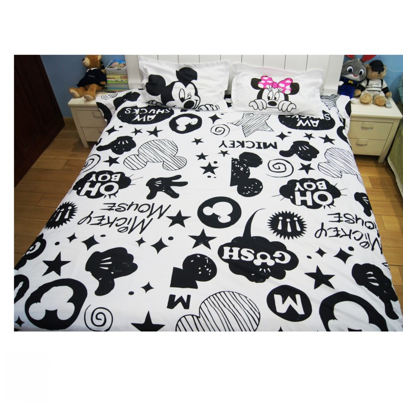 Mickey Minnie Mouse 3D Printed Bedding Sets Adult Twin Full Queen King Size Bedroom Decoration Duvet Cover Set no ComforterMickey Minnie Mouse 3D Printed Bedding Sets Adult Twin Full Queen King Size Bedroom Decoration Duvet Cover Set no Comforter