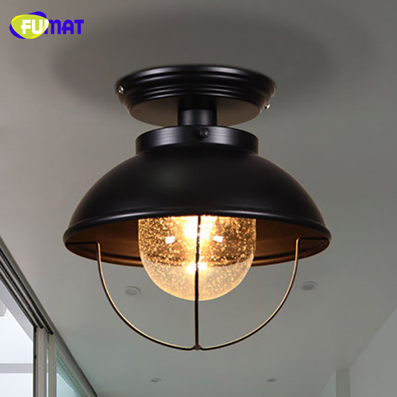 FUMAT Snow Glass Ceiling Light Nordic Balcony Ceiling Lamp Porch Aisle Cloakroom Lighting Black Bathroom Kitchen Ceiling Lights