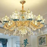 LED crystal chandelier home deco lighting fixtures living room hanging lights luxury suspension luminaire bedroom suspended lamp