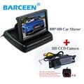 HD CCD Car Câmara de Visão Traseira para OPEL Astra H/Corsa D/Meriva A/Vectra C/Zafira B, FIAT Grande + 4.3 Polegada Monitor Espelho retrovisor