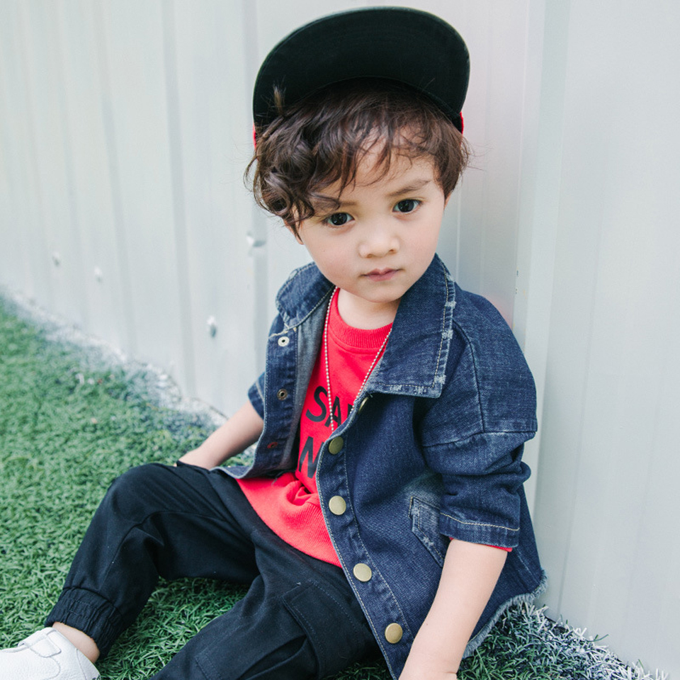 Fashion Denim baby Boys Children outerwear coat fashion kids jackets for Boy girls jacket Spring Autumn children clothing