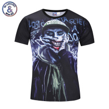 Mr.1991INC 2017 Brand New 3D T shirt Print Joker Hip Hop Casual Tops Tees Fashion Short Sleeve Summer Men's Top Clothing