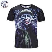 Mr.1991INC 2017 Brand New 3D T shirt Print Joker Hip Hop Casual Tops Tees Fashion Short Sleeve Summer Men's Top Clothing