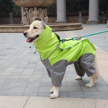 Waterproof Dog Raincoat Fashion Dogs Rain Jacket Rainwear Jumpsuits With Hood For Small Medium Large Pet Dogs Rain Coat Costume