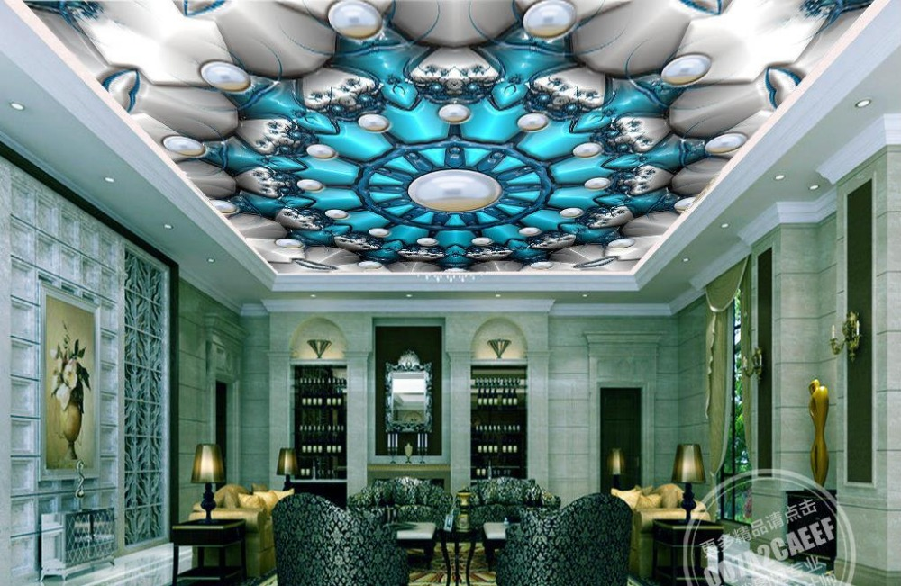 custom 3d ceiling murals wallpaper Abstract jewelery patte 3d ceiling photo wallpapers for living room 3d stereoscopic ceiling custom photo wallpaper 3d stereoscopic sky ceiling cloud wallpapers for living room mural 3d wallpaper ceiling