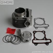 57,4 мм Поршень Набор/Топ, комплект подключения печатающей головки для 4 ходовой воздушный охладительный Скутер мопед ATV QUAD GY6 150 157QMJ 1P57QMJ