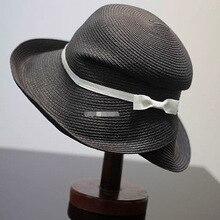 Новая складная соломенная шляпа козырек Женская Летняя шляпка пляжная шляпа конский хвост может носить крутую шляпу корейский анти-УФ бабочка