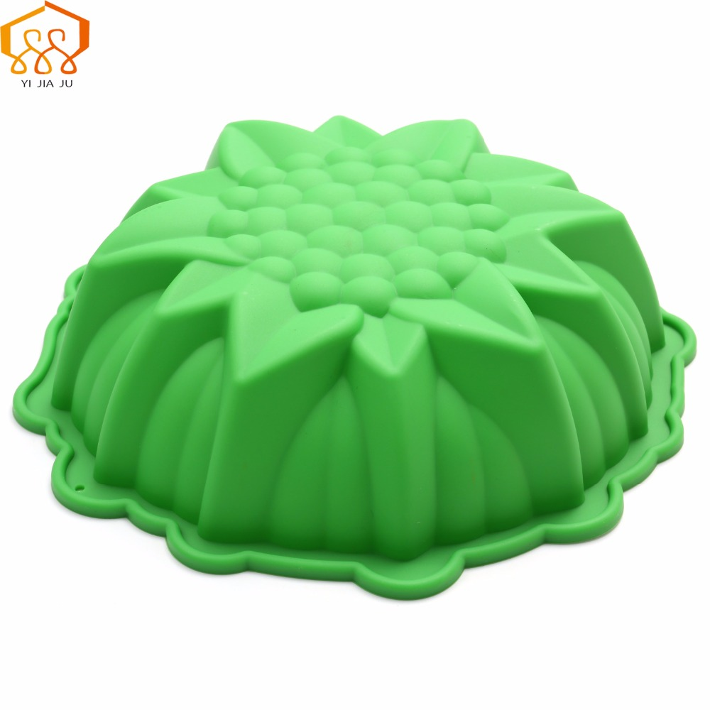 Diy Medium Dimensionale Blomster Cake Mould Food Grade Silicone Bakeware Reception Banket Fødselsdagskage Mould Gratis Levering