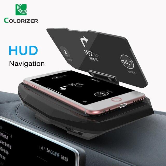 ユニバーサル電話の車のミラーホルダーウインドスクリーンプロジェクター HUD ヘッドアップディスプレイ GPS ナビゲーション HUD 折りたたみ Iphone サムスン