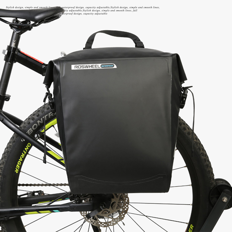 Waterproof Bicycle Bags 20L Large Capacity MTB Mountain Pannier Cycling Bicycle Accessories Rear Tail Trunk Riding Bike Bag in Bicycle Bags Panniers from Sports Entertainment