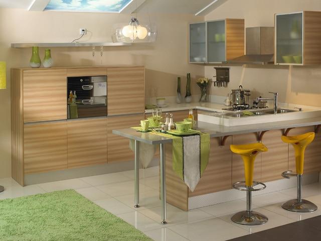 Pannelled Quartz Stone Countertop Modular Kitchen Cabinet Whole