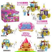 Cinderella Princess Royal Carriage Building Blocks Figures Legoings Dream Pumpkin Car Blocks Bricks Model Toys Girls Gift