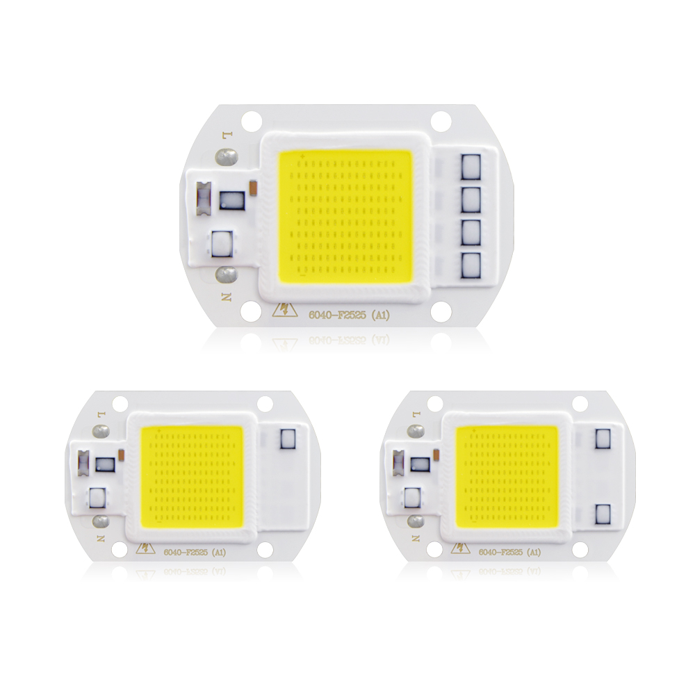 1Pcs 20W 30W 50W AC 220V Power Supply COB Integrated Light Chip Smart IC Driver Light Source DIY LED Floodlight Spotlight Bulb