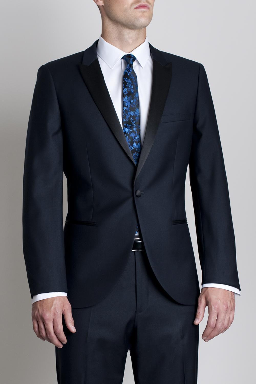 Black dress navy suit - Black Dress Navy Tux Popular Style One Button Navy Blue Groom Tuxedos Groomsmen Men S