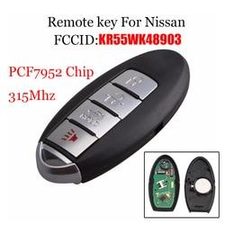 4Buttons Smart Remote Key Keyless Fob 315Mhz For NISSAN Teana Altima Maxima For Infiniti KR55WK48903 Original car key