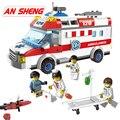 Городской автомобиль скорой помощи  фигурки  развивающие строительные блоки  совместимые со всеми брендами  DIY Кирпичи  игрушки  детские под...