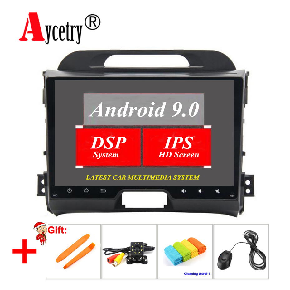 Aycetry! DSP IPS 2 Din Android 9.0 car radio multimedia player dvd GPS audio for KIA sportage 2011 2012 2013 2014 2015 head unit