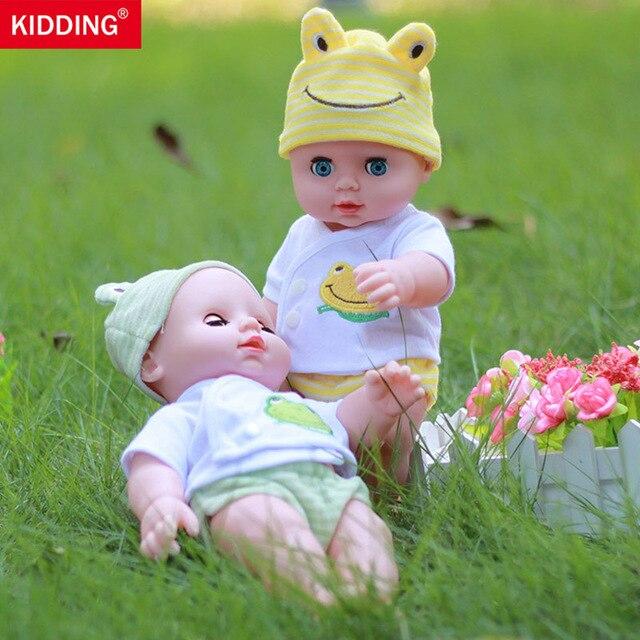 KIDDING blink  vinyl doll  hat reborn doll toy 11.8 inch