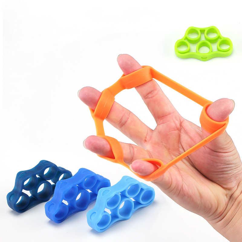1 шт. силиконовый палец эспандер тугой тренажер сопротивление ремешок ручной захват запястье Йога носилки ручной эспандер Упражнение 3 цвета