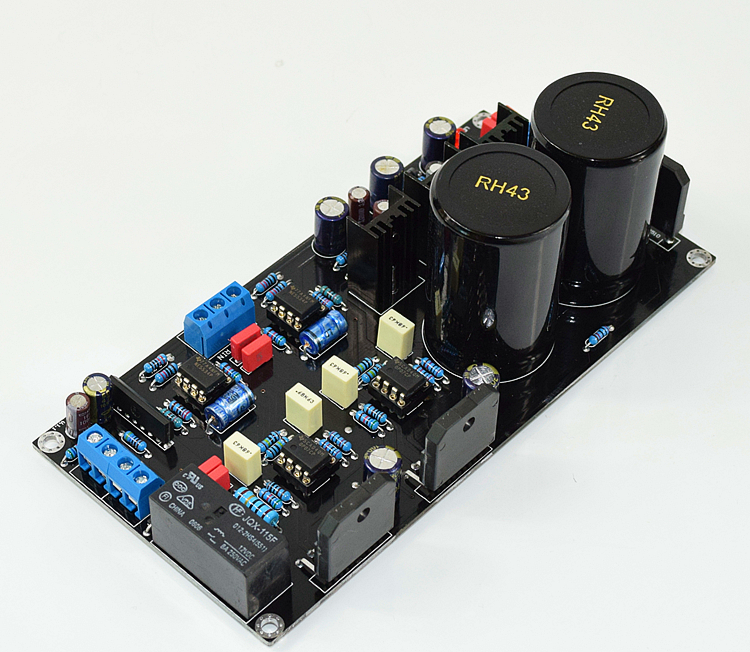 AC24V-0-AC24V HiFi LM3886 + NE5534+ OP072.1 Channel 68W * 2 2.0-channel Audio Amplifier Board