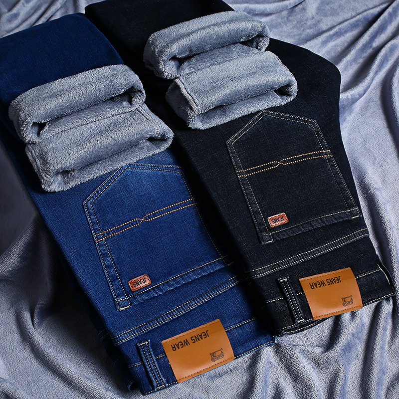 Winter Jeans For Men Warm Homme Vaqueros Hombre Mens Jean Man Pants Pantalones Men'S Marcas Famosas Mens Biker Jeans Calca