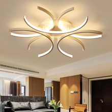 LICAN Aluminum Wave White surface mounted Lustre Avize Lighting 110V 220V Modern Led Ceiling Lights for Bedroom Living room