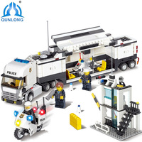 Qunlong Toys Minecraft Police Station Modle Building Blocks DIY Bricks Set Educational Toys For Children Compatible